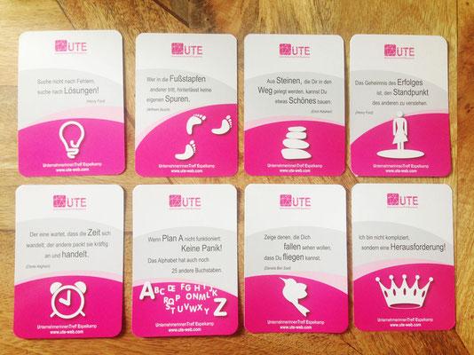 Sprichkarten DIN A7 mit UV Lack