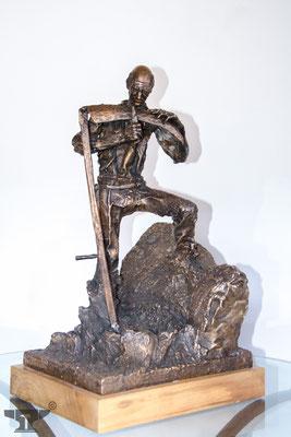 """Bronzeguss """" Der Altbauer"""""""