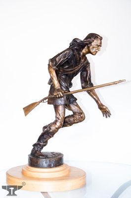 """Bronzeguss """"Der Waldläufer"""""""