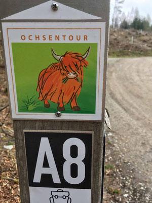 Der Ochsenweg, ein leichter 7,5 km langen Rundweg
