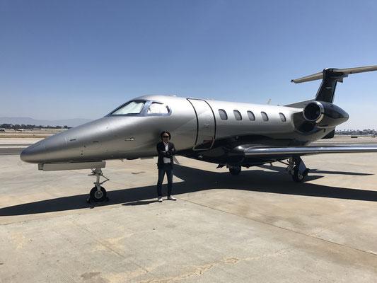 ロサンジェルスに到着後、ロングビーチ空港に立ち寄りました。