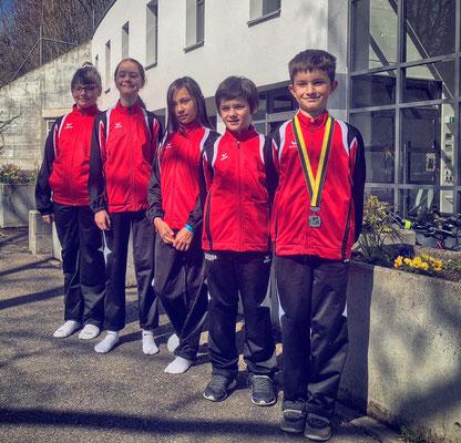 Les gymnastes du club en lice samedi 30 mars: Chloé, Pauline, Nonoca, Ruben et Théo