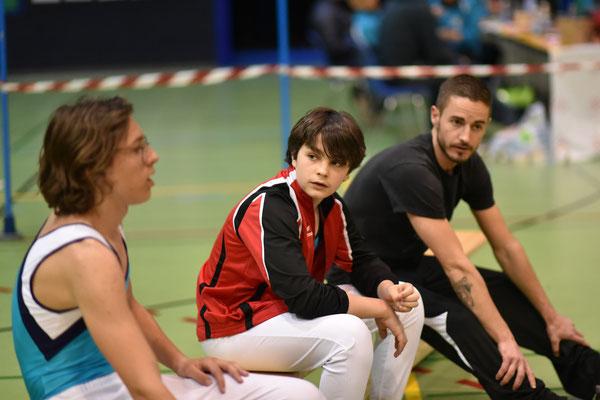 Nicolas, Zachary et Nicolas Felut (coach)