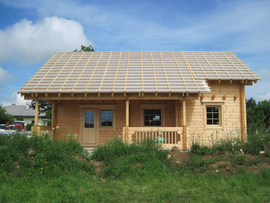 Construcción de casas de madera maciza