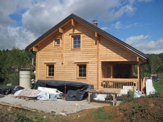 Construcción de casas de madera laminada