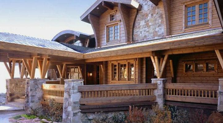 restaurantes de piedra y madera de diseño