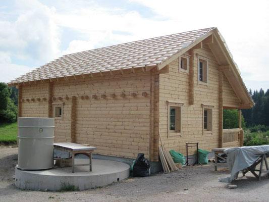 Construcción de casas de madera nórdicas