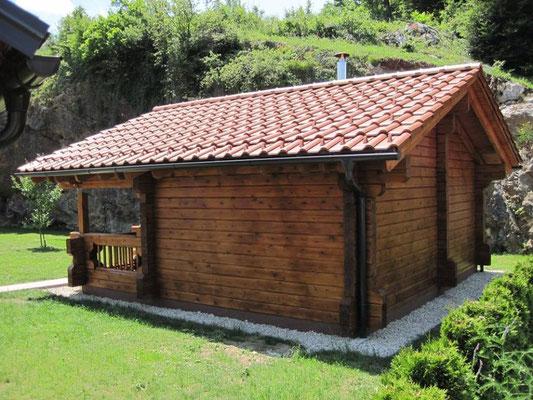 construcción de casas de madera sauna