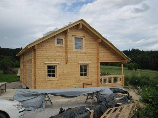 Construcción de casas de madera finlandesa