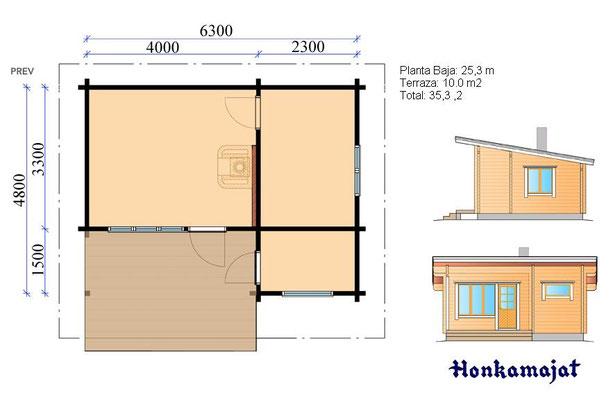 Construcción de cabañas de diseño