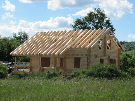Construcción de casas de madera modernas