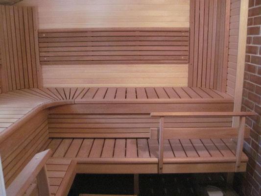 casas de madera sauna a media