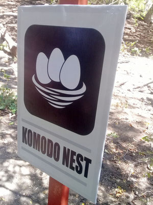 Komodo Nest sign Rinca