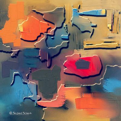 Masai Mara - 100 x 100 cm  Leinwanddruck / Alu Dibond / Acryl