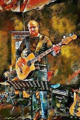 """Bassist Olaf Sakuth"" Fischhalle Harburg"