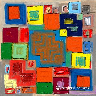 Izmir - 100 x 100 cm Leinwanddruck / Alu Dibond / Acryl