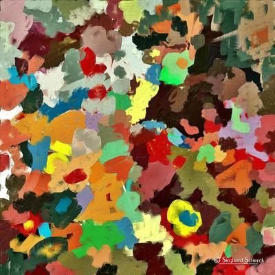 Italian Spring - 100 x 100 cm  Leinwanddruck / Alu Dibond / Acryl