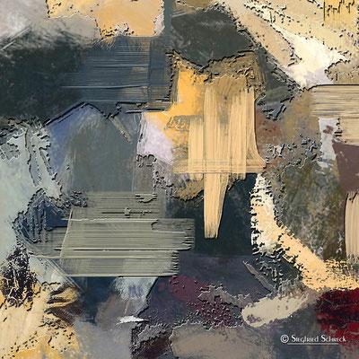 The Grey Depth  - 100 x 100 cm  Leinwanddruck / Alu Dibond / Acryl