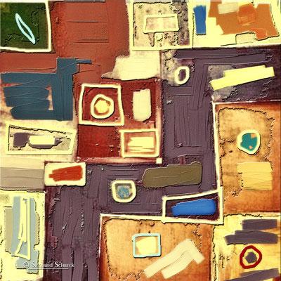 Traces - 100 x 100 cm  Leinwanddruck / Alu Dibond / Acryl