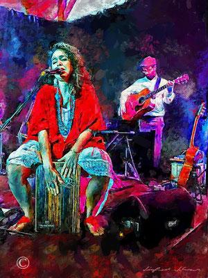 """""""Judith Tellado"""" Singer Songwriterin , Malerin aus Puerto Rico - Konzert Fischhalle Harburg"""