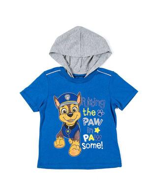 Camiseta capucha niño Paw Patrol            Tallas: 3, 5         Precio: $13,00