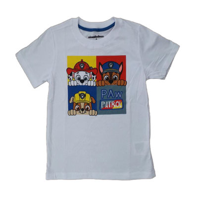 Camiseta Paw Patrol blanca  Tallas: 4, 6    Precio: $10,00