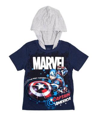 Camiseta capucha Capitán América  Talla: 8    Precio: $13,00