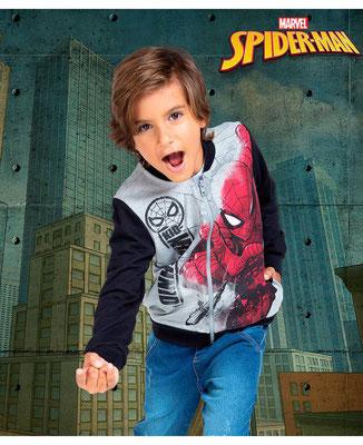 Chompa Spiderman gris         Tallas: 4, 8   Precio $22,00
