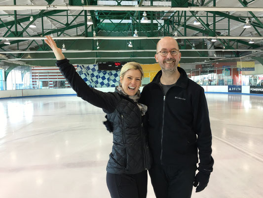 My coaches, Bridie Myles and James Schilling, April 21, 2016-they look great!
