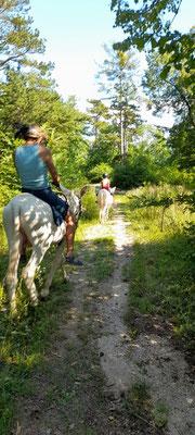 Den Eseln macht das Ausreiten richtig Spaß!