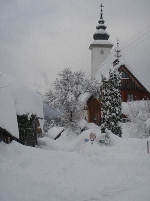Winter in Bad Aussee (Foto: St. Leonhard Kirche)