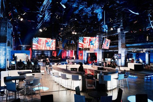 Offizielle Live-Übertragung der US-Wahlen 2016 Clinton vs. Trump.