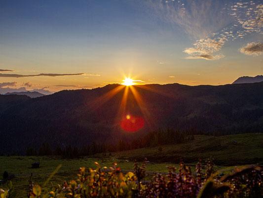 Sonnenaufgang in der Kaaralm