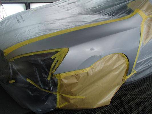 左フロントフェンダー塗装画像