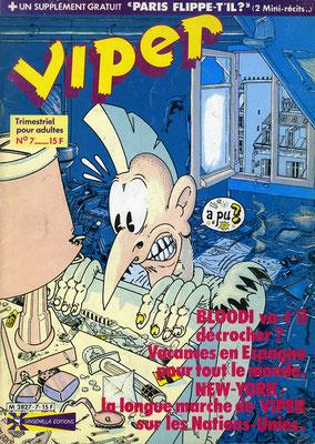 N°7, couverture de Pierre Ouin †