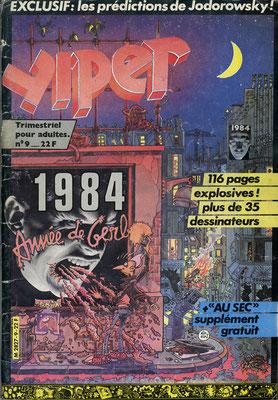 N°9, couverture de Pierre Ouin †