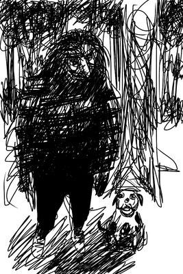 L'homme des bois (crayonné numérique)