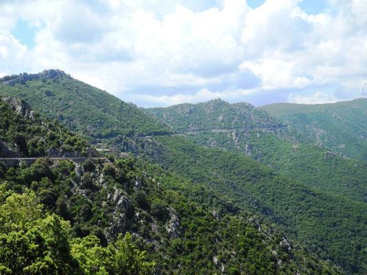Die schöne Bergstrecke nach Dorgali