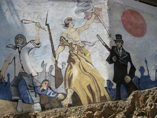 der Kampf für die Freiheit, Liberta marschiert stolz voran.