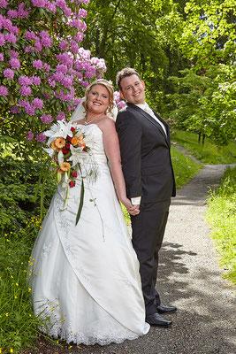Klassisches Brautpaarfoto in Schlangenbad