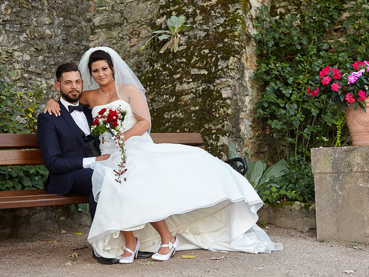 Braut und Bräutigam im Eltviller Schloss