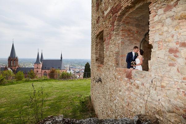 In der Ruine in Oppenheim