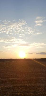 Sonnenuntergang bei Kelheim