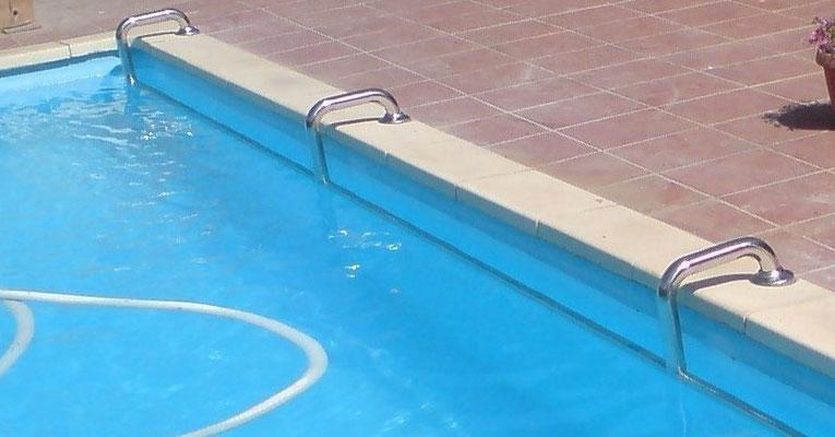 Pasamano para piscina