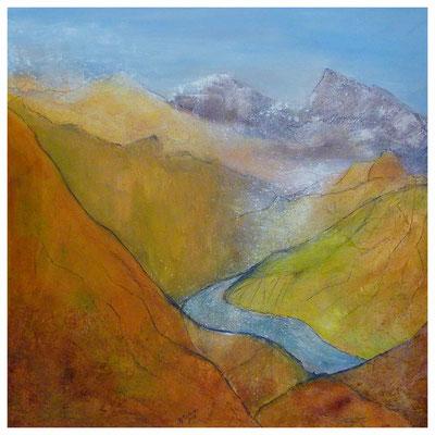 Gebirge I , 90 x 90