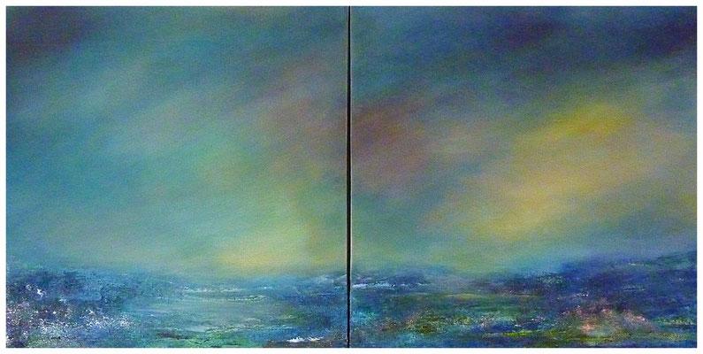 Wetterleuchten II , je 60 x 60 , 2017