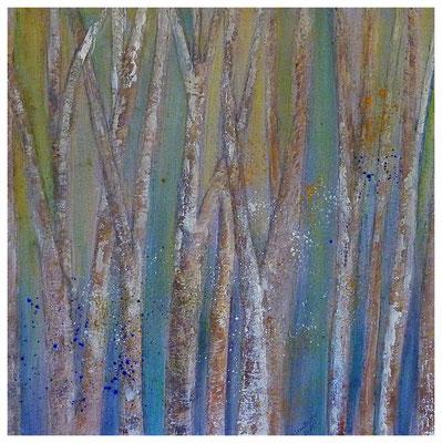 Birken I , 60 x 60 , 2016