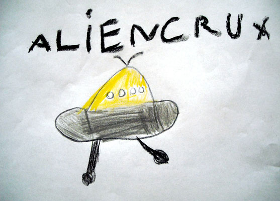 UFO gezeichnet von J. Mertens