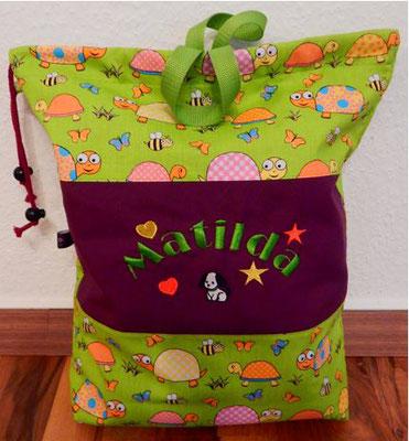 Kindergartenbeutel,Kindergartentasche,Kinderbeutel - individuell bestickt