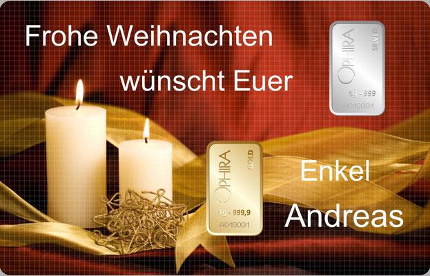 Individueller Geschenkbarren mit einem Goldbarren und einem Silberbarren